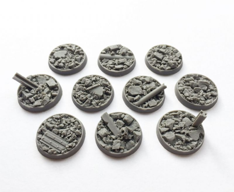 25mm Urban Rubble bases (10)